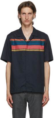 Paul Smith Navy Striped Short Sleeve Shirt