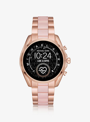 Michael Kors Gen 5 Bradshaw Rose Gold-Tone and Acetate Smartwatch
