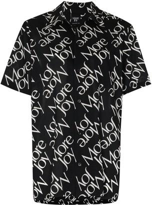 More Joy All-Over Logo Print Shirt