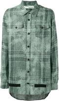 Off-White oversized shirt - men - Linen/Flax - XS