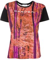 Carven forest print T-shirt - women - Cotton - S