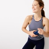 J.Crew New Balance® for striped racerback tank top with built-in sports bra