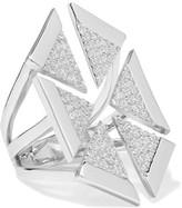Noir Anadolu Silver-Tone Crystal Ring