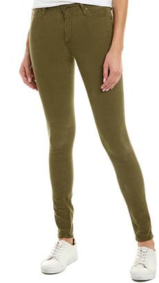 AG Jeans The Farrah Dried Agave Corduroy High-Rise Skinny Leg