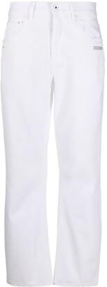 Off-White Logo-Print Straight Jeans