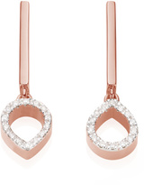 Monica Vinader Naida Mini Lotus Open Drop Earrings