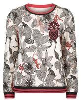 Maje Teresa Tropical Print Sweatshirt