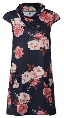 Dorothy Perkins Womens Izabel London Black Floral Knitted Dress, Black