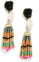 BaubleBar Cowry Tassel Earrings
