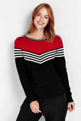 Wallis Red Chevron Stripe Jumper