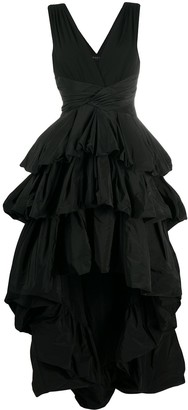 Paule Ka Ruffled High Low Dress