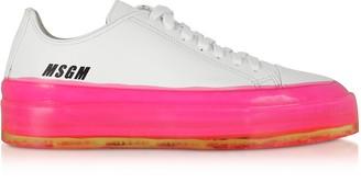 MSGM Fuchsia Floating Sneakers
