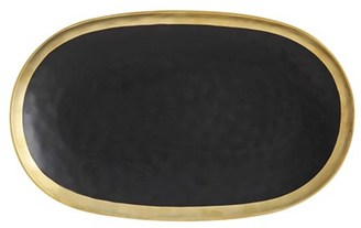 Maxwell & Williams Swank Platter 41 x 25cm Black/Gold