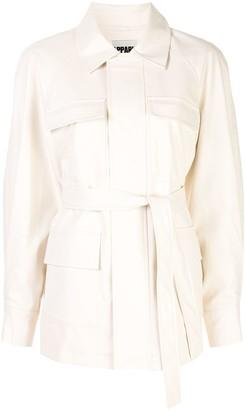 Apparis Tina long sleeve flap pockets coat