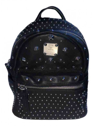 MCM Stark Black Leather Backpacks