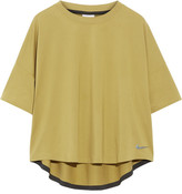 Nike Essentials Mesh-paneled Stretch Top - Chartreuse