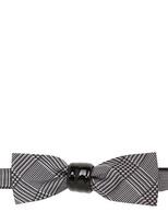 Cor Sine Labe Doli Prince Of Wales Silk And Ceramic Bow Tie