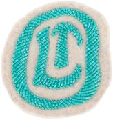 Olympia Le-Tan logo beaded patch - women - Wool Felt/plastic - One Size