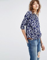 Maison Scotch Printed Pleated Blouse