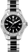 Tag Heuer Aquaracer Diamonds and Ceramic Three-Row Bracelet Watch, WAY131EBA091