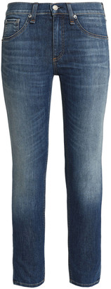 Rag & Bone The Ankle Skinny Cropped Faded Mid-rise Skinny Jeans