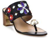 Tory Burch Estella Silk Blend Ring Slide Sandals