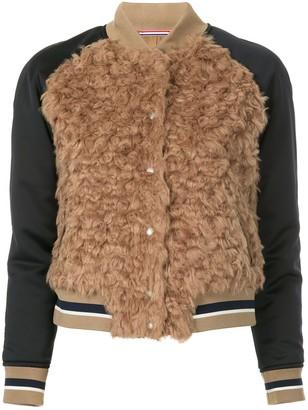 GUILD PRIME Faux Fur Varsity Jacket