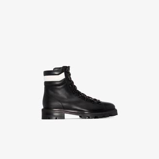 Jimmy Choo black Eshe leather hiking boots
