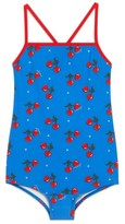 Gucci Girl's Cherry Heart One-Piece Swimsuit