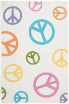 JCPenney Brumlow Tween Pearl Peace Field Rectangular Rug