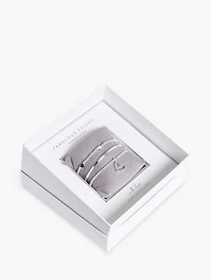 Joma Jewellery Fabulous Friend Bead and Heart Stretch Bracelets and Bangle Gift Box Set, Silver