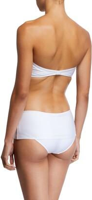 MARIE FRANCE VAN DAMME Solid Bandeau Bikini Top