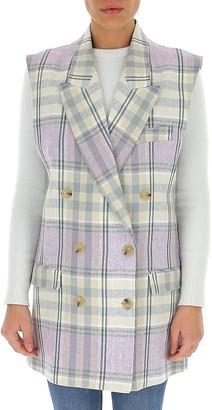 Etoile Isabel Marant Checked Sleeveless Jacket