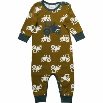 Fred's World by Green Cotton Baby Boys' Tractor Shaping Bodysuit