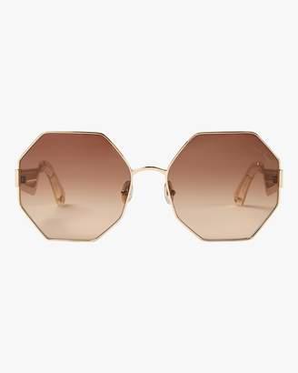 Roberto Cavalli Geometric &Snake& Octagonal Sunglasses