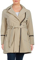Via Spiga Plus Hooded Trench Coat