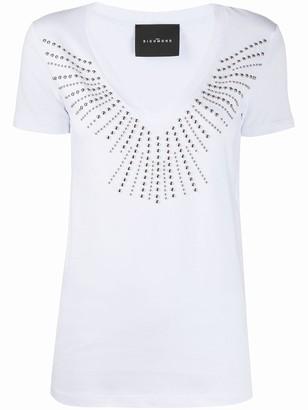 John Richmond studded V-neck T-shirt