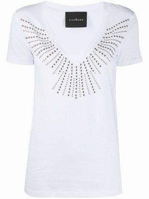 John Richmond studded V-neck T-shirt