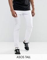 Asos Tall Skinny Chinos In White