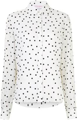 Carolina Herrera Polka Dot Longsleeved Shirt