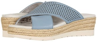 Earth Marigold (Blue Softy Printed) Women's Wedge Shoes