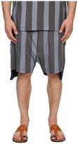 Vivienne Westwood Printed Stripe Jersey Twist Seam Shorts