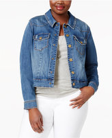 Melissa McCarthy Trendy Plus Size Snap-Front Denim Jacket