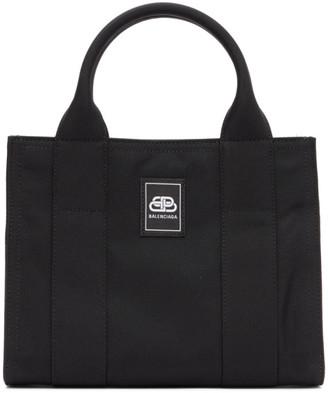 Balenciaga Black XS Trade East-West Tote Bag