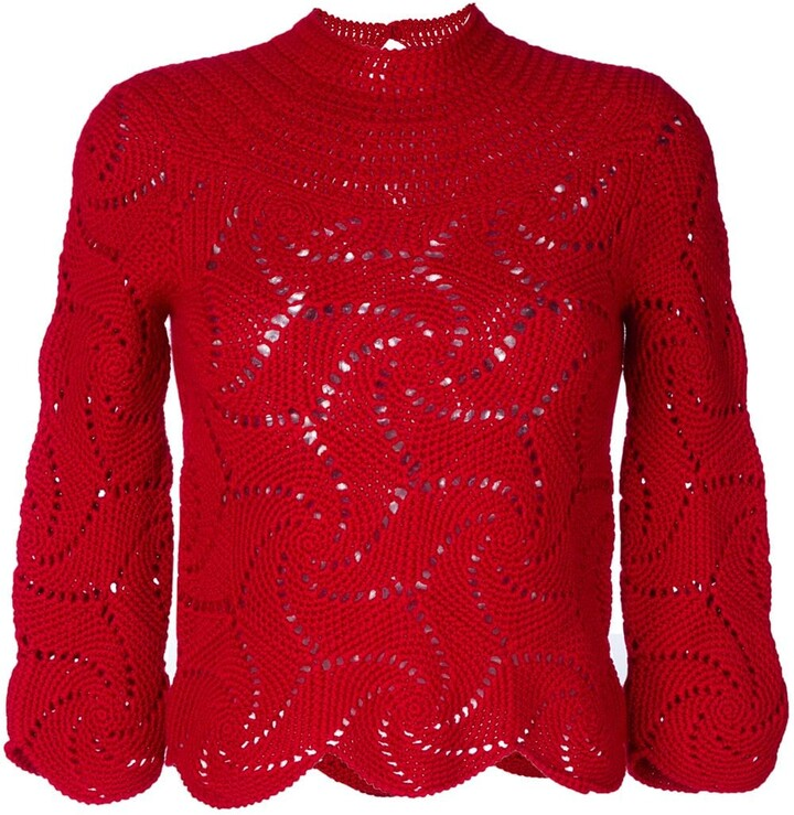 Comme des Garcons Pre-Owned crochet sweater