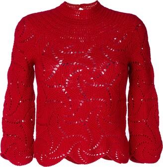 Comme Des Garçons Pre Owned Crochet Sweater