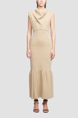 3.1 Phillip Lim Cowl Neck Military Ribbed Dress