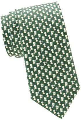 Salvatore Ferragamo Lions Silk Tie