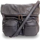 Co-Lab by Christopher Kon Black Foldover Crossbody Bag