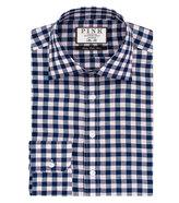 Thomas Pink Porter Check Slim Fit Button Cuff Shirt